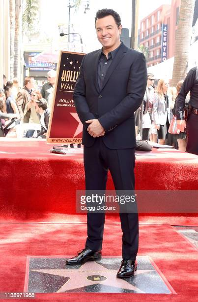 Seth MacFarlane is honored with a Star on The Hollywood Walk Of Fame on April 23 2019 in Hollywood California