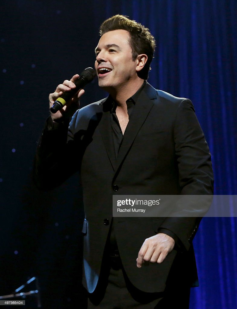 Seth MacFarlane performs onstage during the Thelonious Monk Institute International Jazz Vocals Competition 2015 at Dolby Theatre on November 15, 2015 in Hollywood, California.