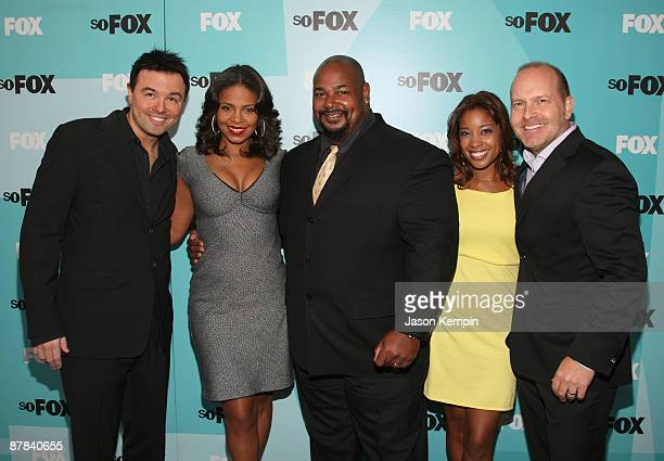 Seth MacFarlane Sanaa Lathan Kevin Michael Richardson Reagan Gomez and Mike Henry attend the 2009 FOX UpFront after party at the Wollman Rink in...