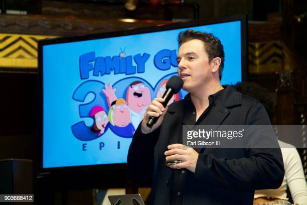 Seth MacFarlane speaks at the Fox Celebrates 300th Episode Of Family Guy at Cicada on January 10 2018 in Los Angeles California