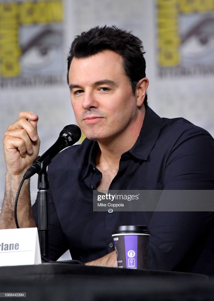 Seth MacFarlane speaks onstage at the 'American Dad' and 'Family Guy' Panel during Comic-Con International 2018 at San Diego Convention Center on July 21, 2018 in San Diego, California.
