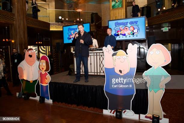 Seth MacFarlane speaks onstage Fox Celebrates 300th Episode Of Family Guy at Cicada on January 10 2018 in Los Angeles California