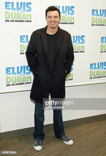 Seth MacFarlane visits The Elvis Duran Z100 Morning Show at Z100 Studio on December 3 2014 in New York City