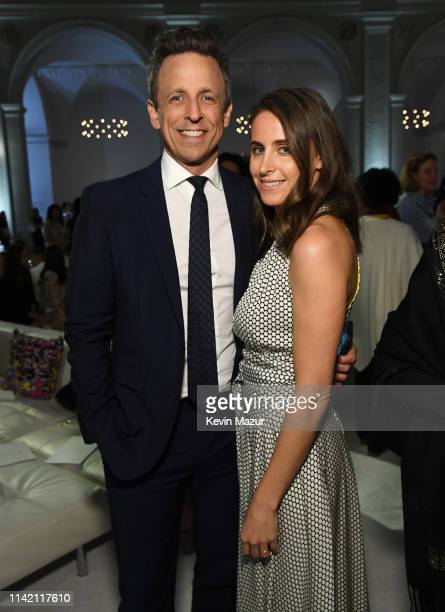 Seth Meyers and Alexi Ashe attend 10th Annual DVF Awards at Brooklyn Museum on April 11 2019 in New York City