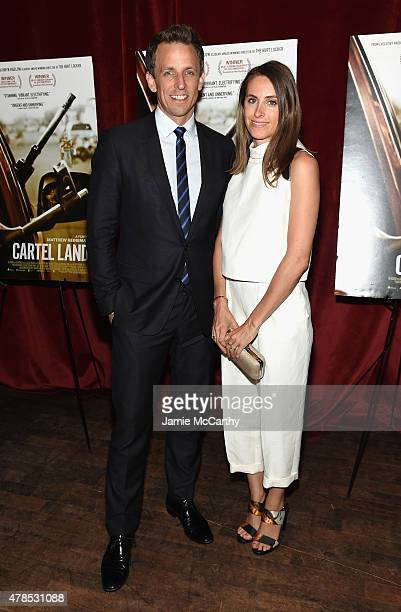 Seth Meyers and Alexi Ashe attend Seth Meyers with the Orchard and the Cinema Society Host a Special Screening of Cartel Land at Tribeca Grand Hotel...