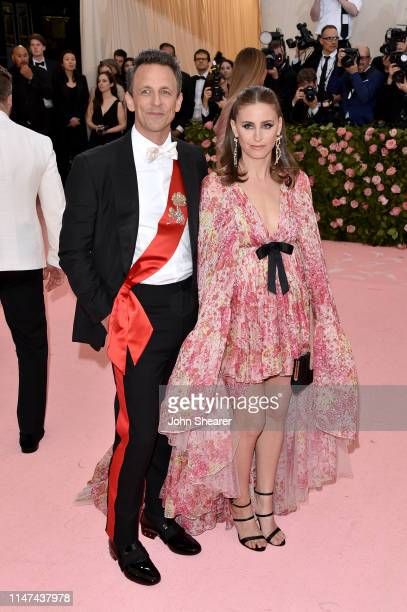 Seth Meyers and Alexi Ashe attend The 2019 Met Gala Celebrating Camp Notes On Fashion at The Metropolitan Museum of Art on May 06 2019 in New York...
