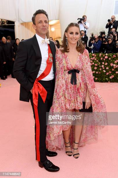 Seth Meyers and Alexi Ashe attend The 2019 Met Gala Celebrating Camp Notes on Fashion at Metropolitan Museum of Art on May 06 2019 in New York City