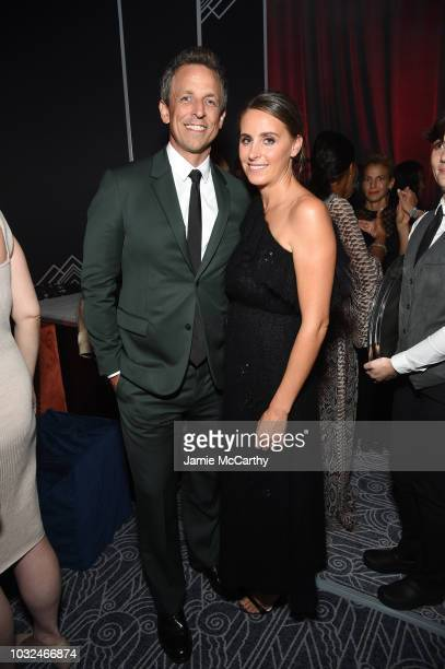 Seth Meyers and Alexi Ashe attend the after party for the 2018 GOOD Foundation's Evening of Comedy Music Benefit presented by Samsung Electronics...