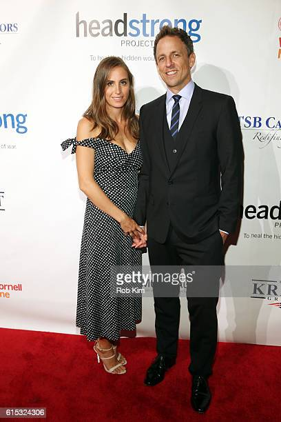 Seth Meyers and Alexi Ashe attend the Headstrong Project Words of War Gala 2016 at Chelsea Piers on October 17 2016 in New York City