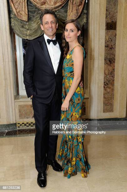 Seth Meyers and Alexi Ashe attend The Society of Memorial Sloan Kettering Spring 2017 Ball at The Plaza Hotel on May 9 2017 in New York City