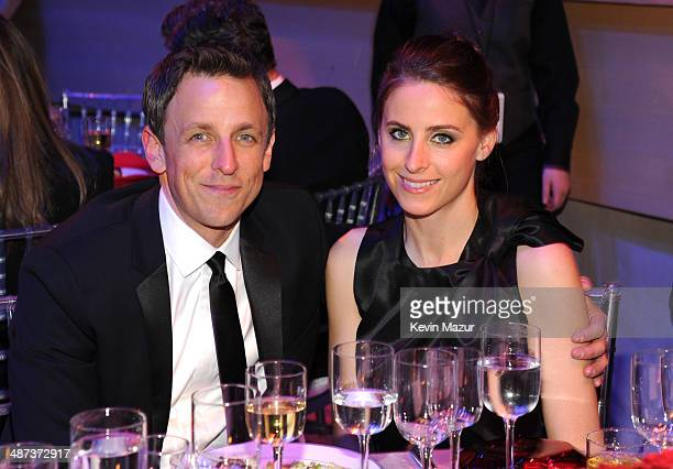 Seth Meyers and Alexi Ashe attend the TIME 100 Gala TIME's 100 most influential people in the world at Jazz at Lincoln Center on April 29 2014 in New...