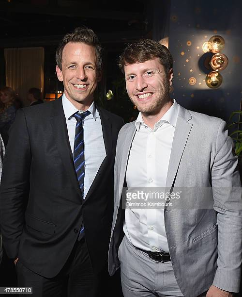 Seth Meyers and director Matthew Heineman attend The Orchard And The Cinema Society Host A Special Screening Of Cartel Land after party at Tribeca...