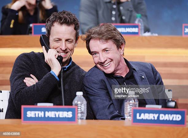 Seth Meyers and Martin Short attend The Night Of Too Many Start Live Telethon on March 8 2015 in New York City