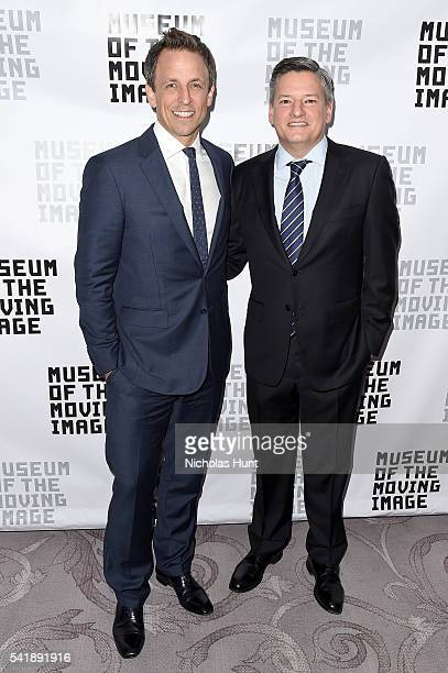 Seth Meyers and Netflix Chief Content Offier Ted Sarandos attend the Museum of the Moving Image honoring Netflix Chief Content Officer Ted Sarandos...