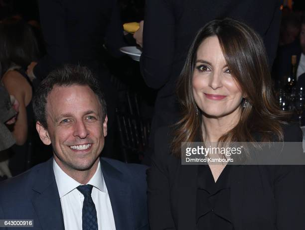 Seth Meyers and Tina Fey attend 69th Writers Guild Awards New York Ceremony at Edison Ballroom on February 19 2017 in New York City