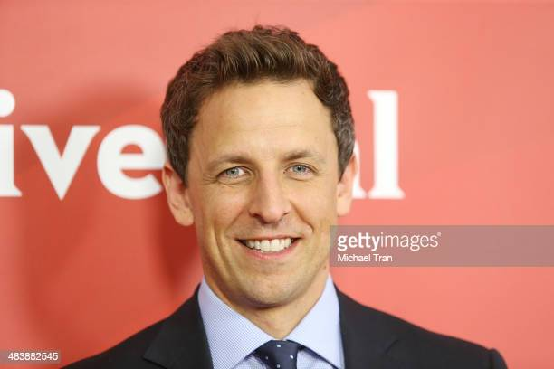 Seth Meyers arrives at the NBC/Universal 2014 TCA Winter press tour held at The Langham Huntington Hotel and Spa on January 19 2014 in Pasadena...