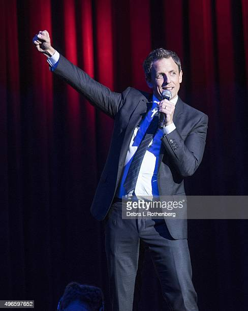 Seth Meyers at the 9th Annual Stand Up For Heroes Event presented by the New York Comedy Festival and the Bob Woodruff Foundation at Madison Square...