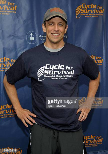 Seth Meyers attends 2012 Cycle For Survival - Day 2 at Equinox Graybar on February 12, 2012 in New York City.