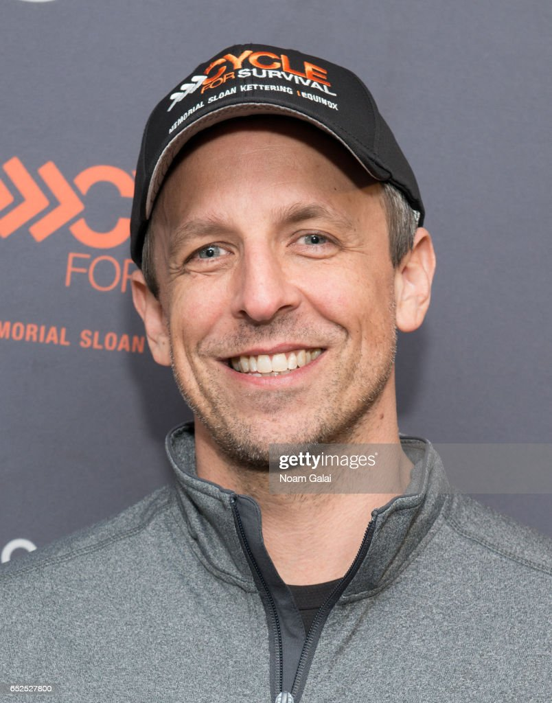 Seth Meyers attends Cycle For Survival at Equinox Bryant Park on