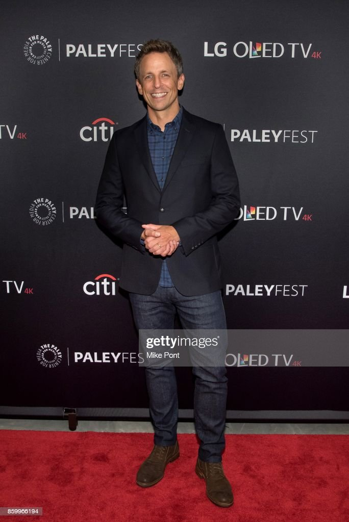 Seth Meyers attends 'Late Night With Seth Meyers' during PaleyFest NY 2017 at The Paley Center for Media on October 10, 2017 in New York City.