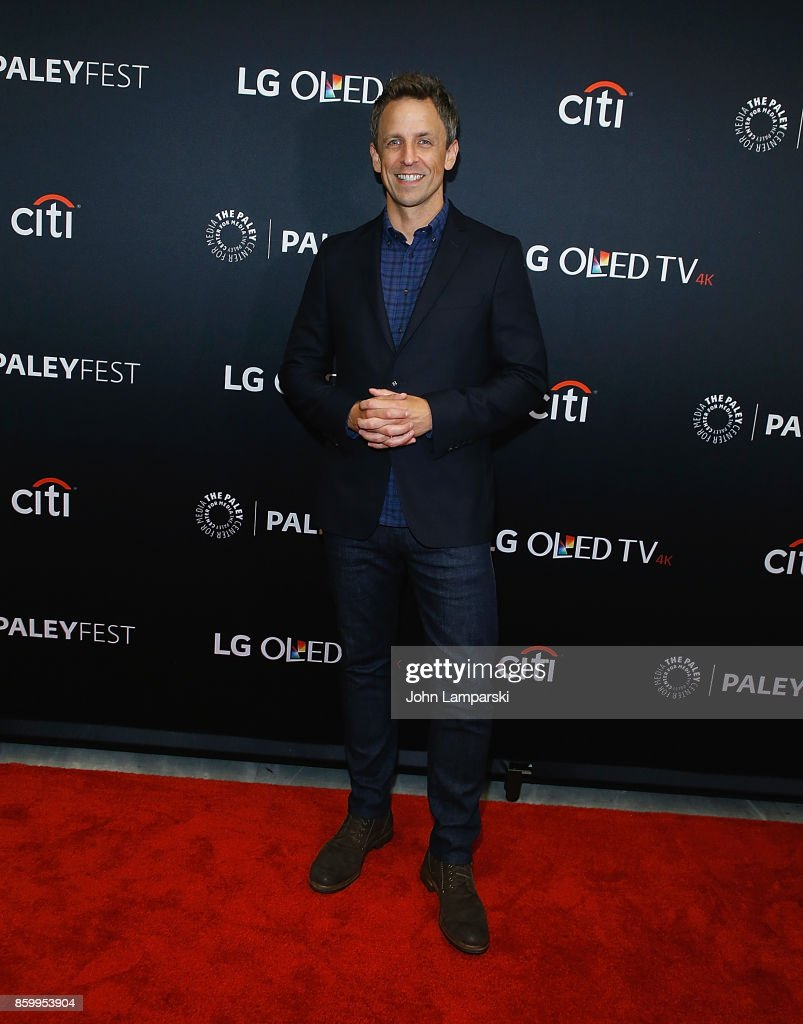 Seth Meyers attends PaleyFest NY 2017 'Late Night with Seth Meyers' at The Paley Center for Media on October 10, 2017 in New York City.