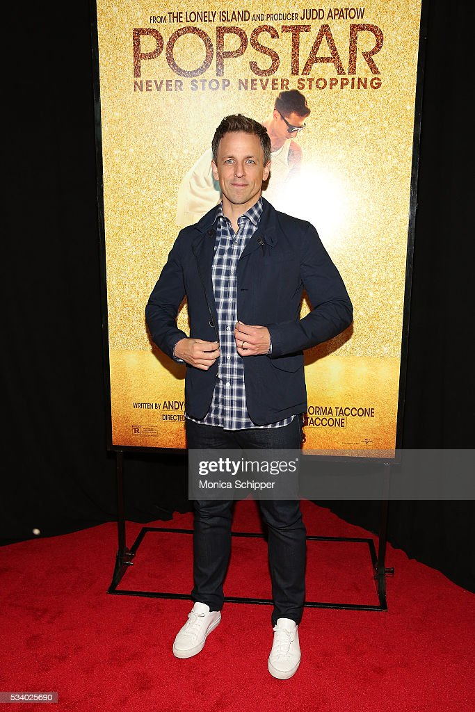 Seth Meyers attends 'Popstar: Never Stop Never Stopping' New York Premiere at AMC Loews Lincoln Square 13 theater on May 24, 2016 in New York City.