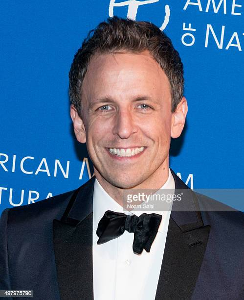 Seth Meyers attends the 2015 American Museum of Natural History Museum Gala at American Museum of Natural History on November 19 2015 in New York City