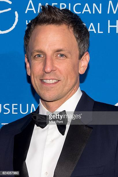 Seth Meyers attends the 2016 American Museum Of Natural History Museum Gala at American Museum of Natural History on November 17 2016 in New York City