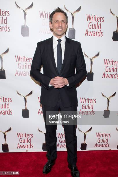 Seth Meyers attends the 2018 Writers Guild Awards NYC Ceremony on February 11 2018 in New York City