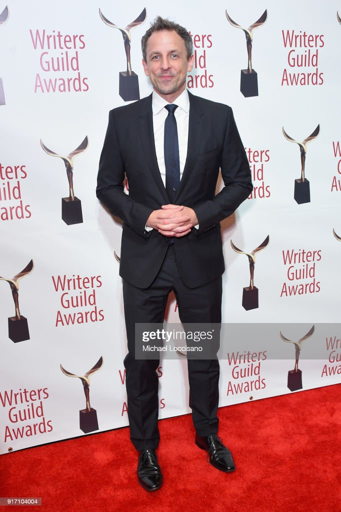 Seth Meyers attends the 70th Annual Writers Guild Awards New York at Edison Ballroom on February 11, 2018 in New York City.