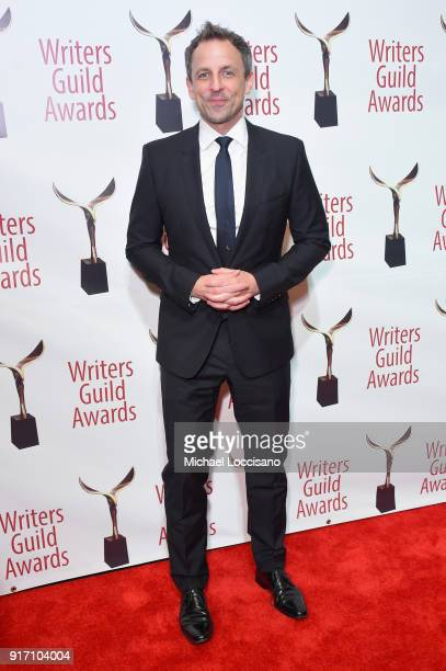 Seth Meyers attends the 70th Annual Writers Guild Awards New York at Edison Ballroom on February 11 2018 in New York City