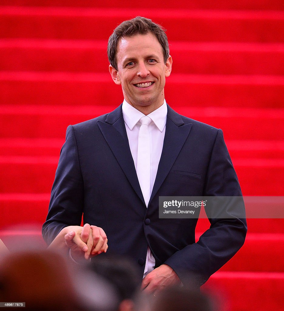 Seth Meyers attends the 'Charles James: Beyond Fashion' Costume Institute Gala at the Metropolitan Museum of Art on May 5, 2014 in New York City.