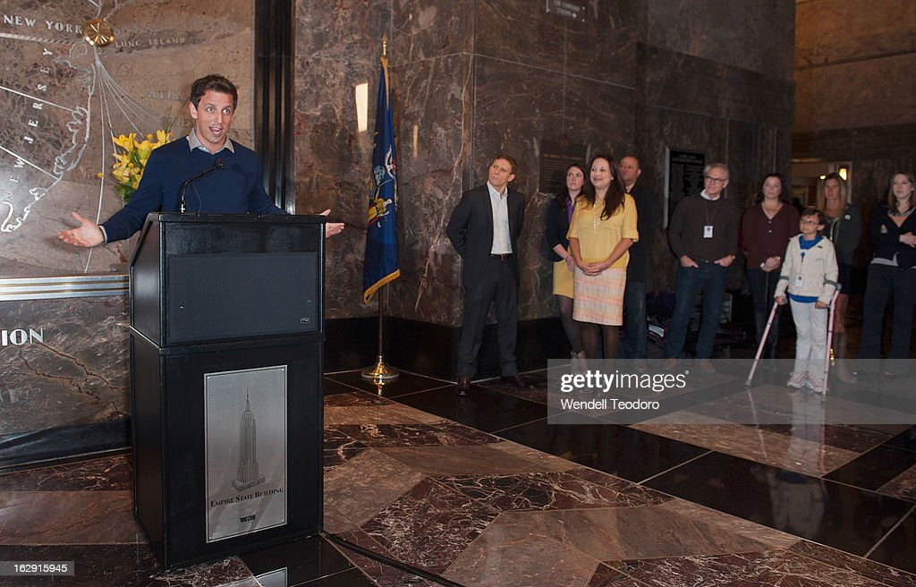 Seth Meyers attends the lights The Empire State Building on March 1, 2013 in New York City.