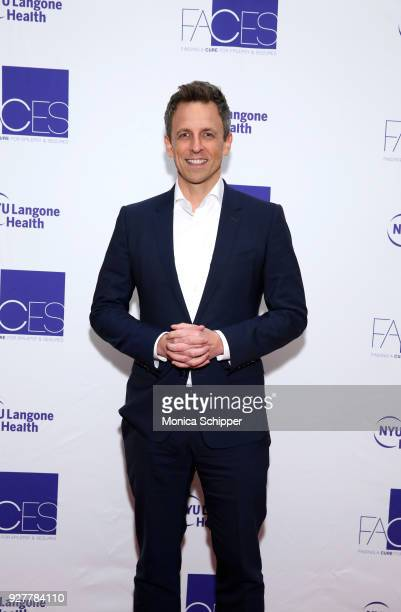 Seth Meyers attends the NYU Langone Health's 2018 FACES Gala at Pier Sixty at Chelsea Piers on March 5 2018 in New York City
