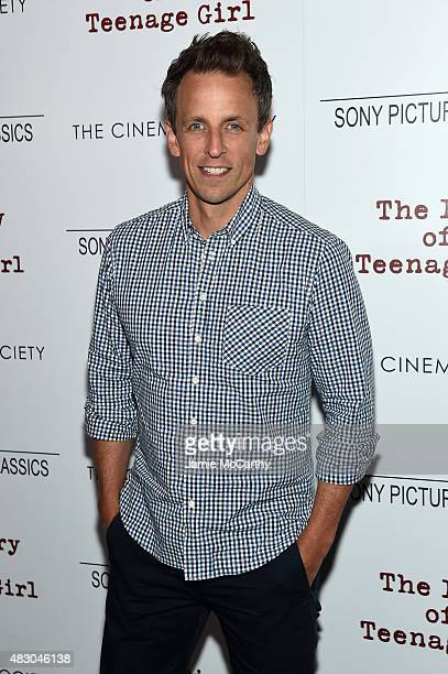 Seth Meyers attends the screening of Sony Pictures Classics The Diary Of A Teenage Girl hosted by The Cinema Society at Landmark Sunshine Cinema on...