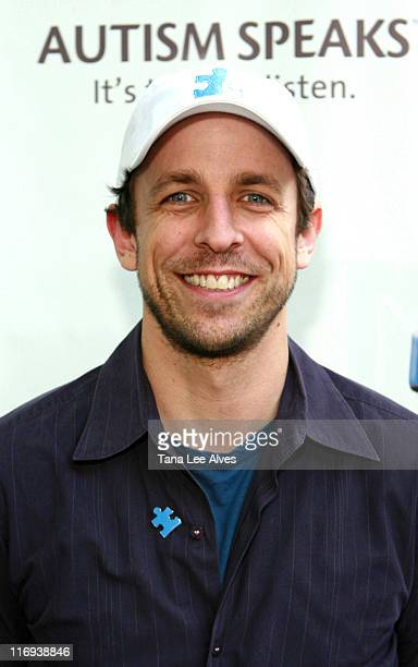 Seth Meyers during First Annual Autism Speaks Golf Classic at Deepdale Golf Club in Manhasset New York United States