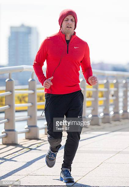 Seth Meyers is seen jogging on April 10 2016 in New York City