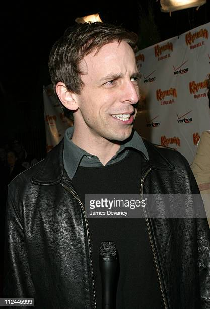 Seth Meyers of 'Saturday Night Live' during 'Queer Eye for the Straight Guy' Record Release Party Outside at Avalon in New York City New York United...