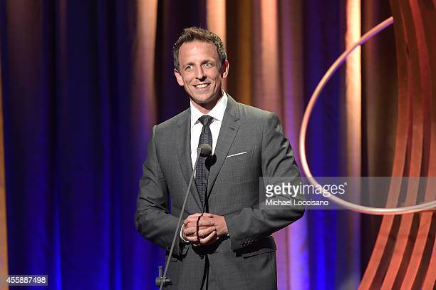 Seth Meyers speaks at the 8th Annual Clinton Global Citizen Awards at Sheraton Times Square on September 21 2014 in New York City