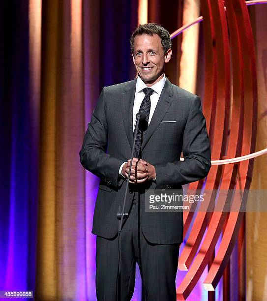Seth Meyers speaks at the 8th Annual Clinton Global Citizen Awards And CGCA Blue Carpet at Sheraton New York Times Square on September 21 2014 in New...