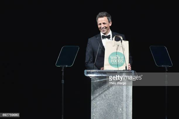 Seth Meyers speaks onstage during the 2017 CFDA Fashion Awards at Hammerstein Ballroom on June 5 2017 in New York City