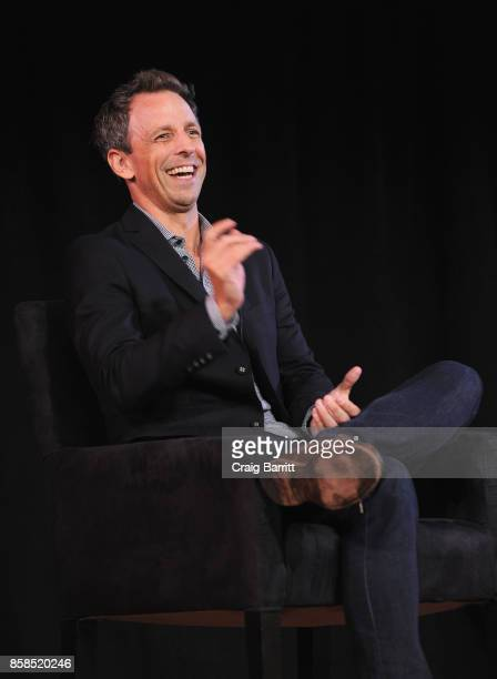 Seth Meyers speaks onstage during the 2017 New Yorker Festival at New York Society for Ethical Culture on October 6, 2017 in New York City.