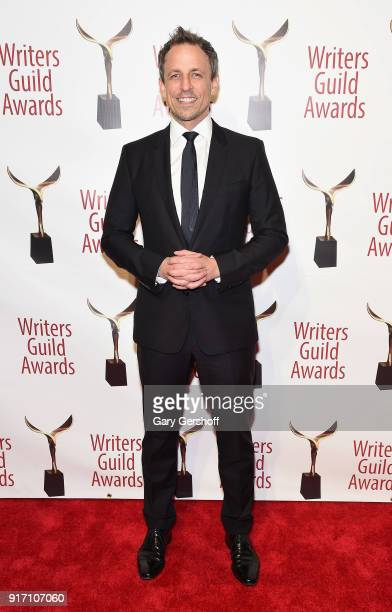 Seth Myers attends the 2018 Writers Guild Awards at Edison Ballroom on February 11 2018 in New York City