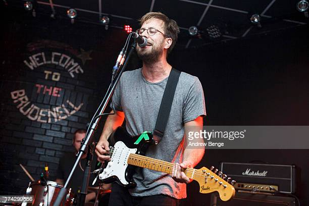Seth Olinsky of Akron/Family performs on stage at Brudenell Social Club on July 23 2013 in Leeds England