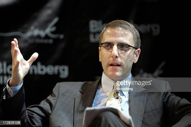Seth Pinsky president of the New York City Economic Development Corporation speaks at Bloomberg Link Empowered Entrepreneur Summit in New York US on...