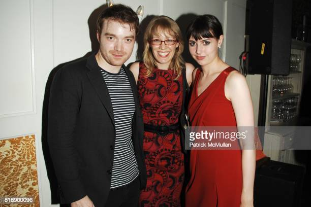 Seth Porges Andrea Fabille and Jennifer Wright attend B5 Media Launch Party at The Kingswood on May 25 2010 in New York City