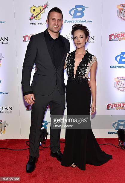 Seth Right, Shelly Right, Roxanne Siordia and her husband, BMX rider and television host T.J. Lavin arrive at the eighth annual Fighters Only World...