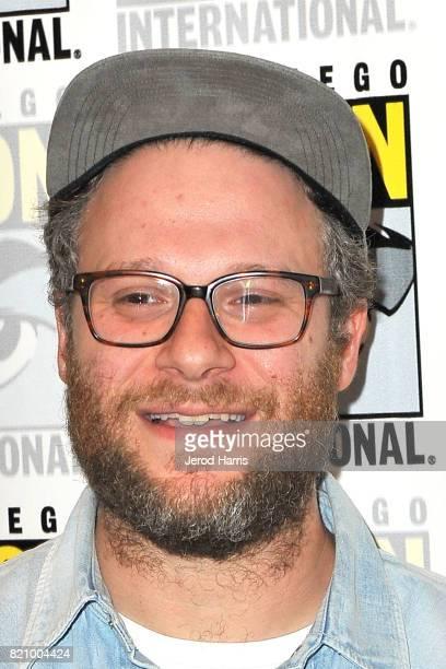 Seth Rogan attends the Futureman press line at Comic Con 2017 Day 3 on July 22 2017 in San Diego California