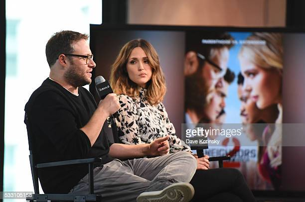 Seth Rogen and Rose Byrne discuss their new film Neighbors 2 at AOL Studios In New York on May 20 2016 in New York City