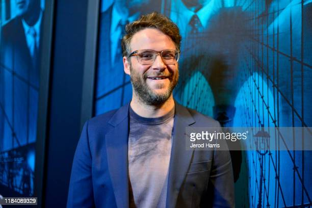 Seth Rogen arrives at Premiere Of Warner Bros Pictures' 'Motherless Brooklyn' on October 28 2019 in Los Angeles California